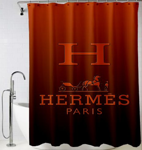 Hermes Paris logo inspired art Shower Curtain