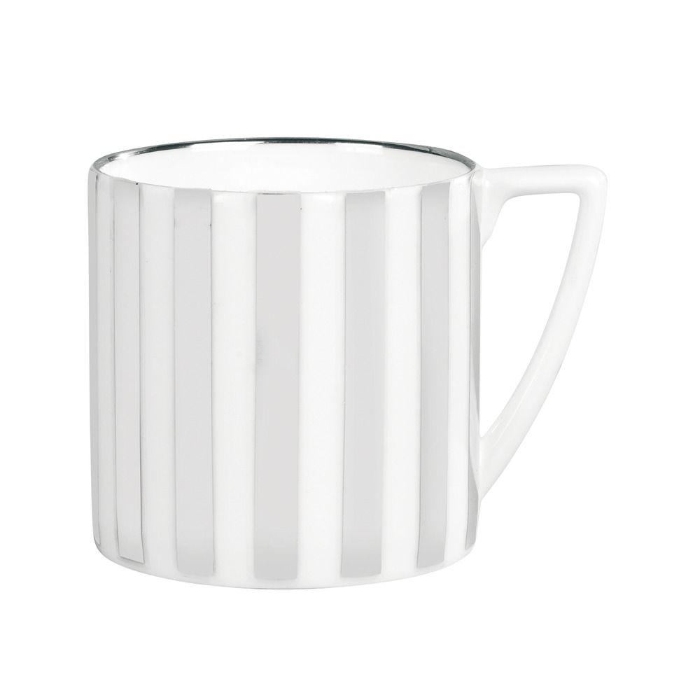 striped mug - platinum