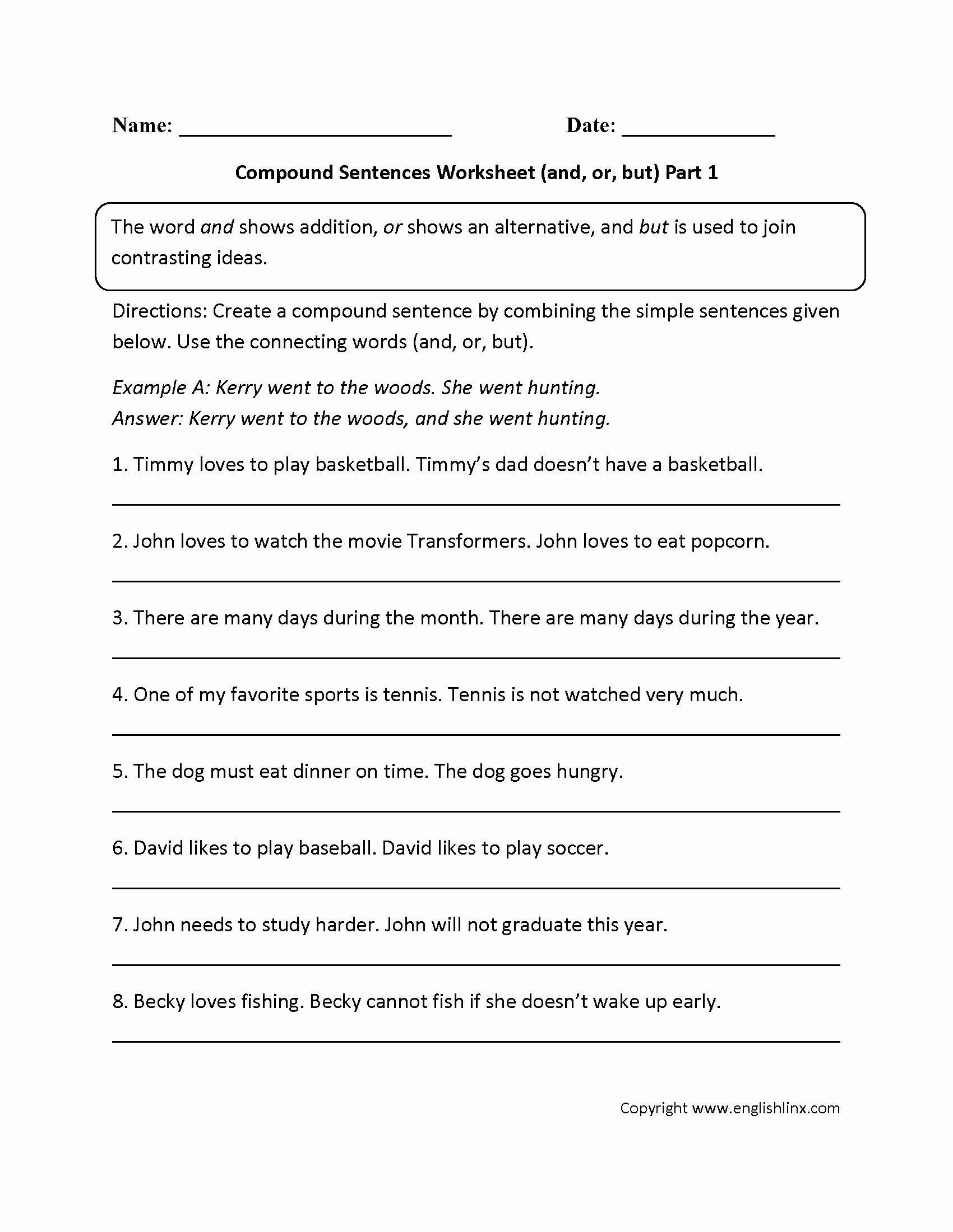 Compound Sentences Worksheet Pdf Awesome Sentences Worksheets In 2020 Compound Sentences Complex Sentences Worksheets Simple And Compound Sentences