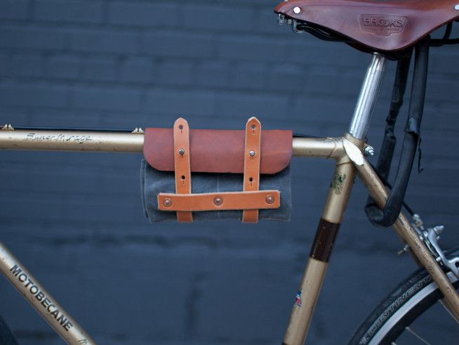 Orox Leather Co - bike roll Canvas, leather, hardware $150