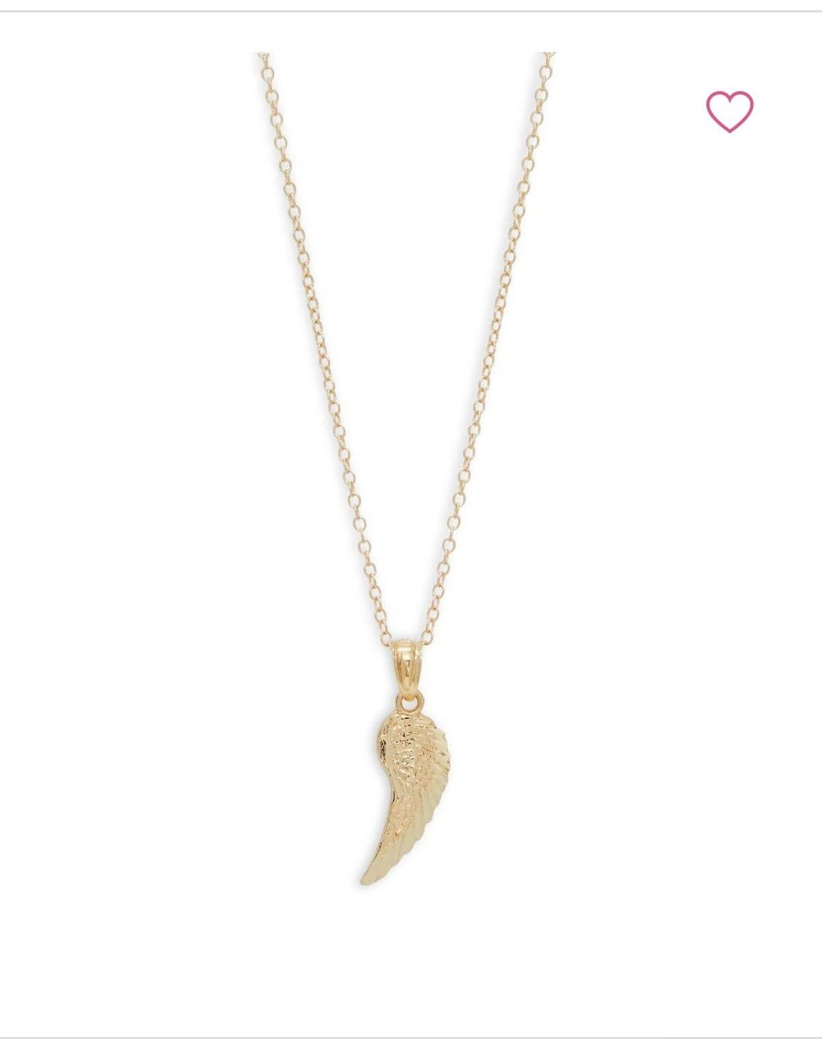 14k Gold Angel Wing Necklace Gold Angel Wings Angel Wing Necklace Necklace