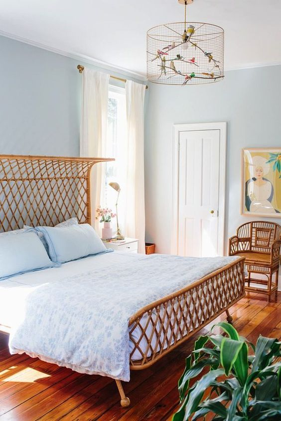 Photo of Романтичный и уютный дизайн спальни в голубых тонах