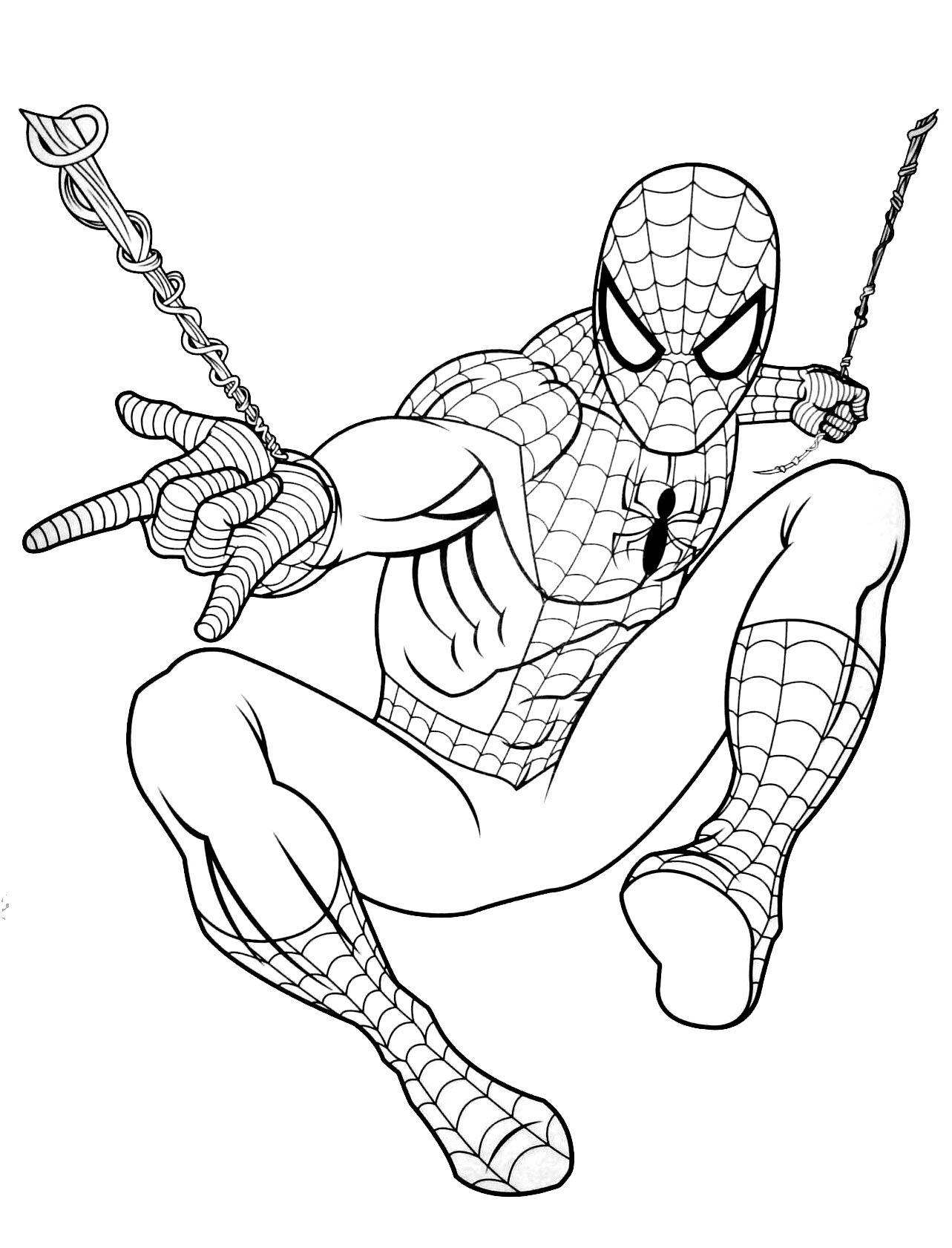 23 dessins de coloriage Spiderman Gratuit à imprimer  Avengers