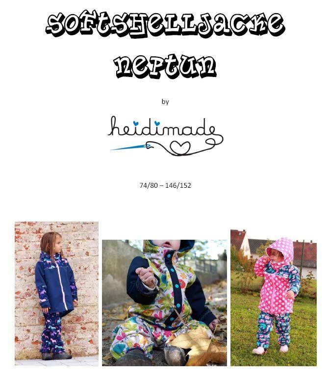 heidimade: Freebook Softshelljacke Neptun, kostenloses Schnittmuster ...