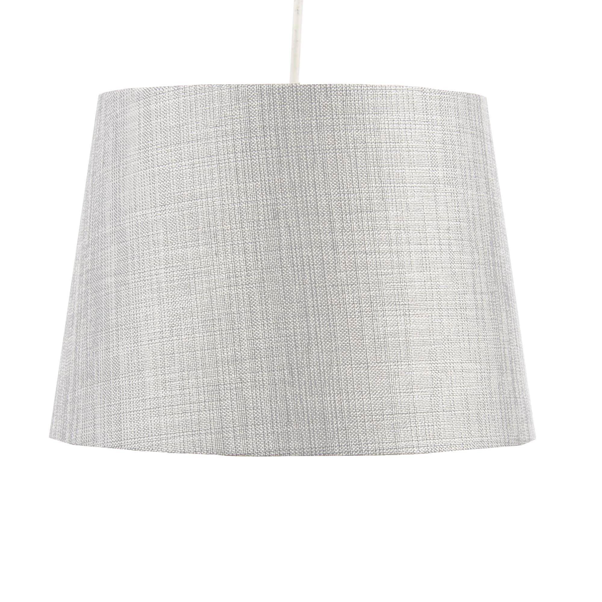 Colours sadler grey metallic lamp shade d280mm gray colours sadler grey metallic lamp shade d28cm departments diy at bq aloadofball Image collections