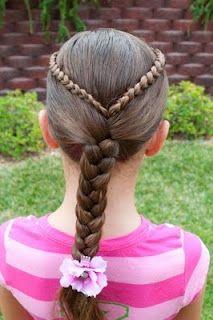 cute double ribbon braid  cute hairstyles for school