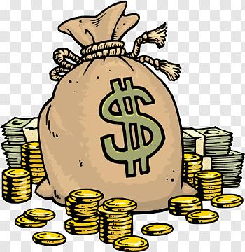 Dollar Bag And Banknote Cartoon Money Bag Money Bag Free Png Ilustrasi Ilustrasi Lucu Seni
