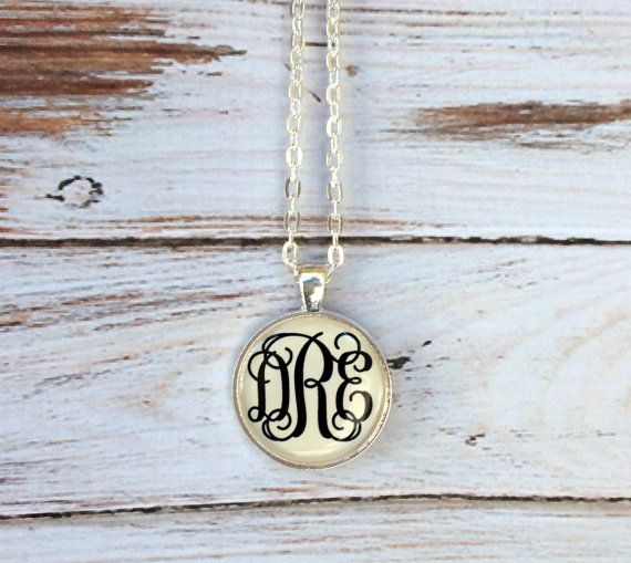 Monogram necklace Personalized Jewelry Monogrammed gifts Bridesmaid Gift Initial Necklace Keepsake Monogrammed Necklace