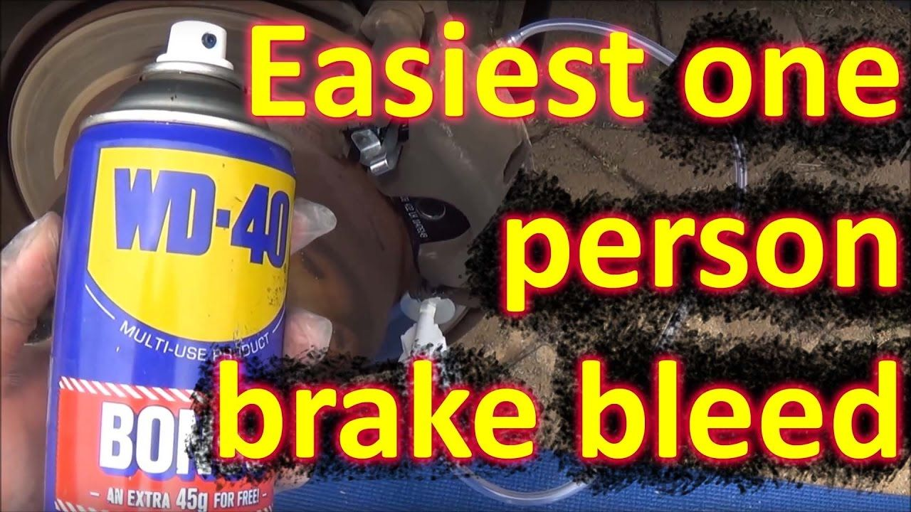 How To Bleed Brakes By One Person Brake Car Maintenance Bleeding