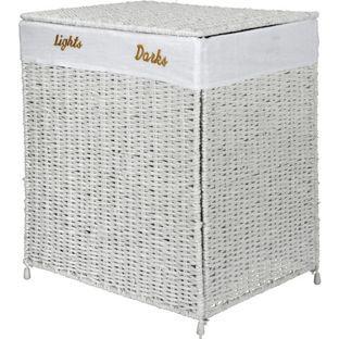 Buy Argos Home Seagrass 120 Litre Laundry Sorter - White ...