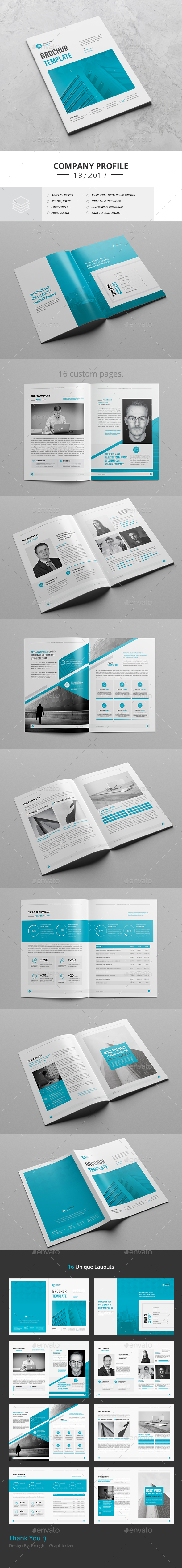 brochure template indesign indd 16 pages