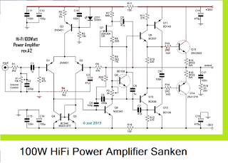 100w hifi power amplifier circuit with sanken | audio ... usb powered audio power lifier wiring and diagram power wheel wiring harness diagram for jeep