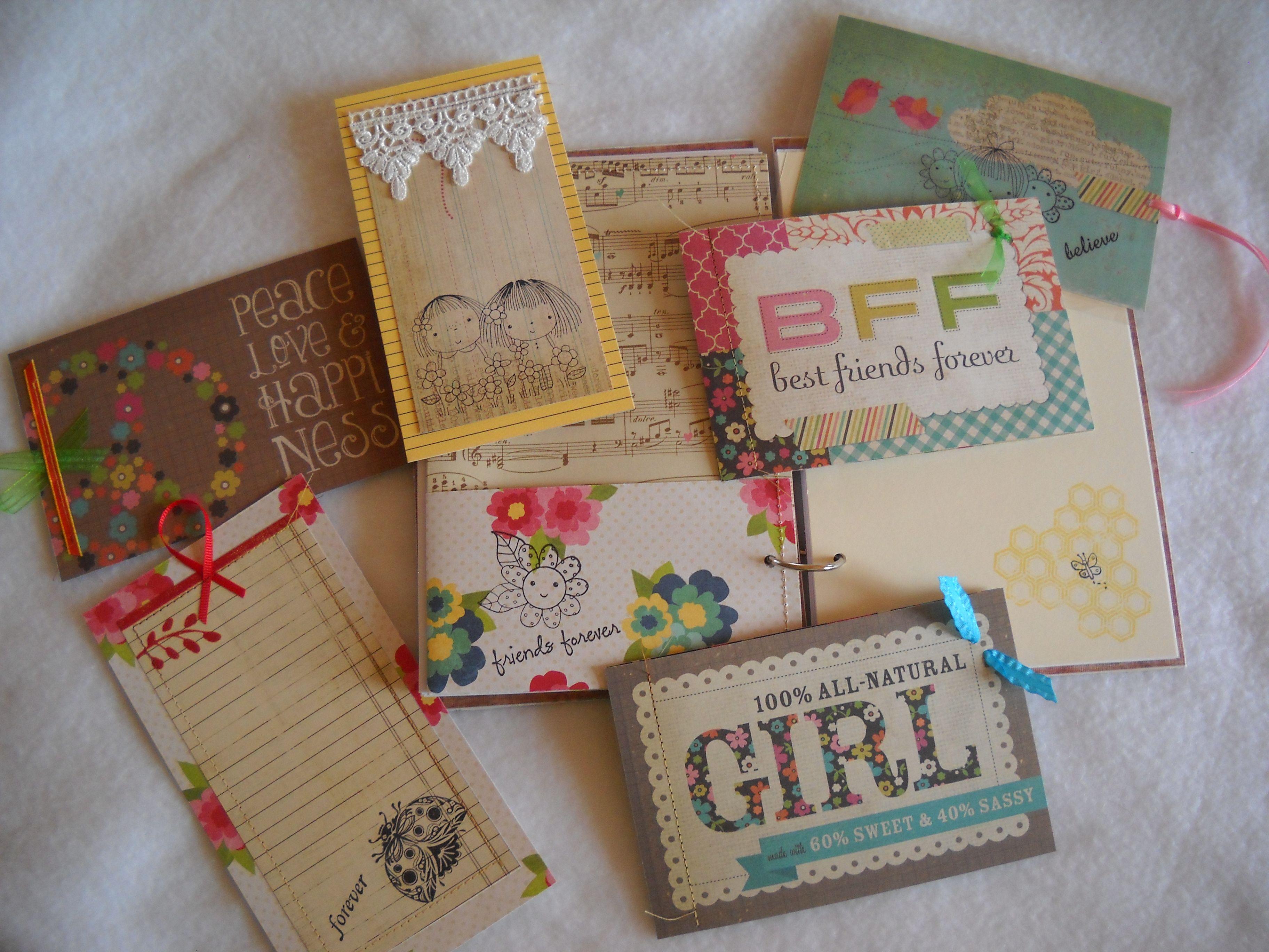 Scrapbook paper books - Handmade Journal Paper Goods Drawing Writing Travel Sketchbook Diary Album Mini Tablets Tags Notebook Folders Book