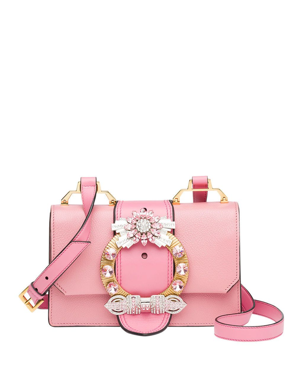 9de0a4297d2f MIU MIU Lady Jeweled Madras Leather Shoulder Bag Rose  1950 FREE S H  (Compare Elsewhere at  2100 + S   H). Weekday Order Pick Up also Available  - MIRABELLE ...