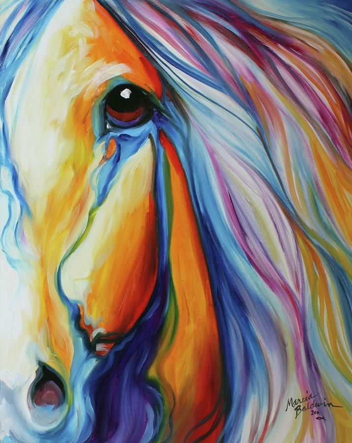 Majestic Equine  Painting By Marcia Baldwin  Painting
