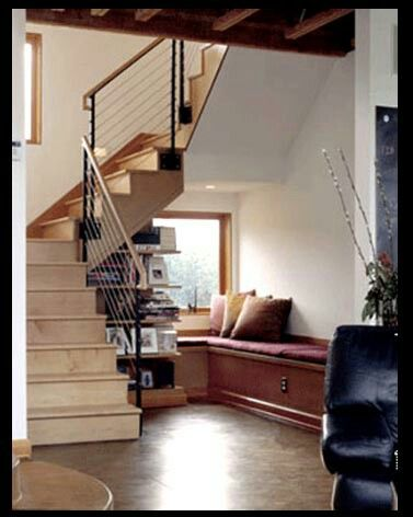 Best Under Stairs Modern Bungalow Stair Railing Design 400 x 300