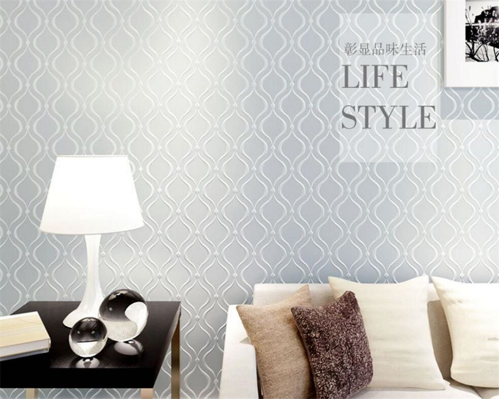 Beibehang 3d wallpaper contemporary and contracted wallpaper ...