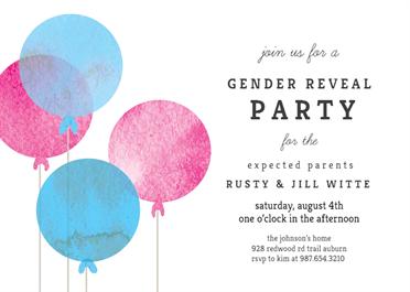 Simple Balloon Gender Reveal Invitation Template Free Greetings Island Gender Reveal Invitations Template Gender Reveal Invitations Printable Gender Reveal Balloons
