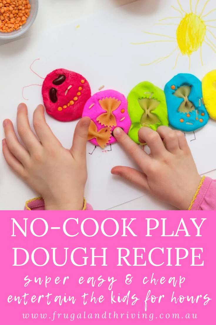Easy Homemade NoCook Playdough Recipe From Pantry