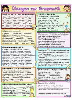 Arbeitsblatt/ Grammatik mit 10 Aufgaben - Artikel + Wortschatzübung ...