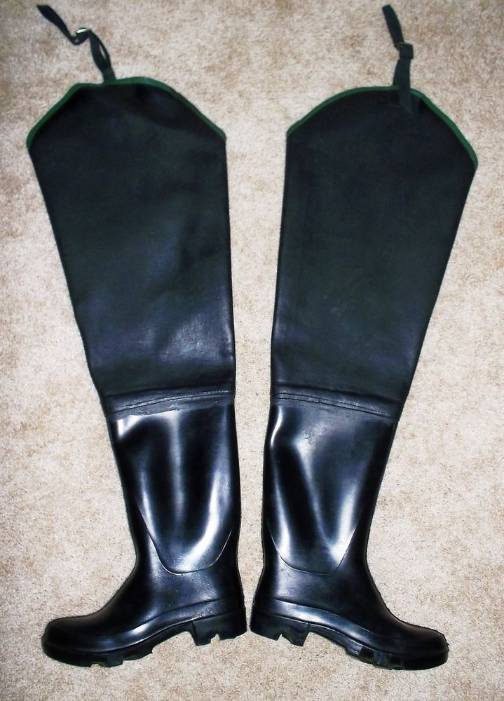 latex hip boots