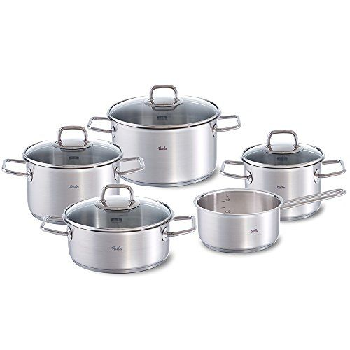 Fissler Viseo Set Frying and Cooking Pot Stainless Steel Casserole 5 PCs ** Read more reviews of the product by visiting the link on the image.
