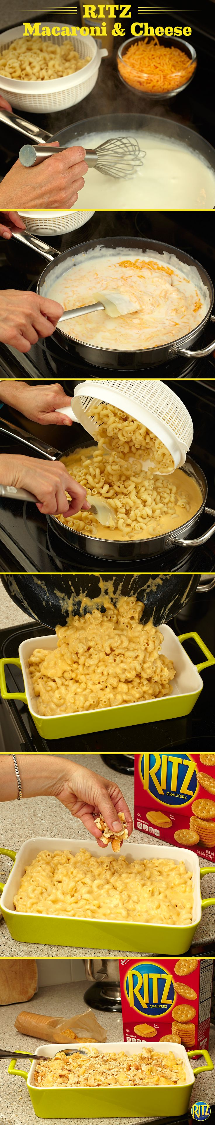 Ritzy macaroni cheese recipe food recipes cooking