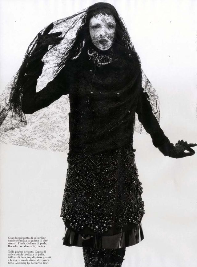 Photography by Steven Meisel. Styled by Panos Yiapanis. Model: Mariacarla Boscono