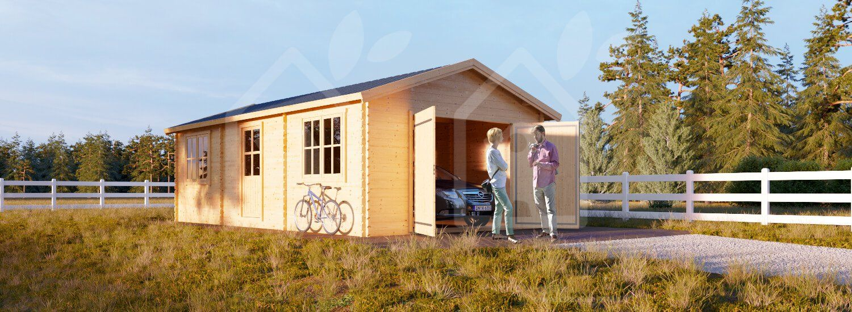 Garage in legno 4m x 7.5m 44mm Legno, Casette, Garage