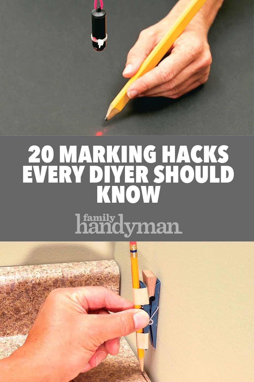 20 marking hacks every diyer should know | diy advice blog