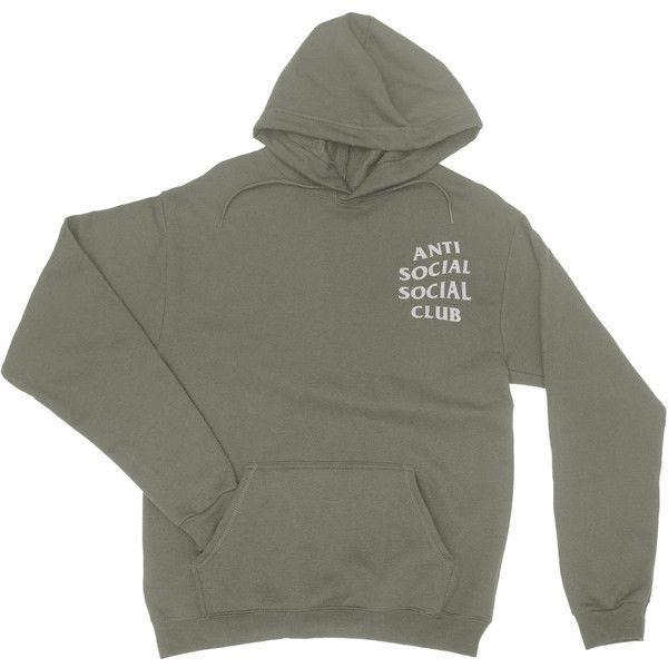 Anti Sociale Social Club Hoodies Kanye Felpa Con Cappuccio