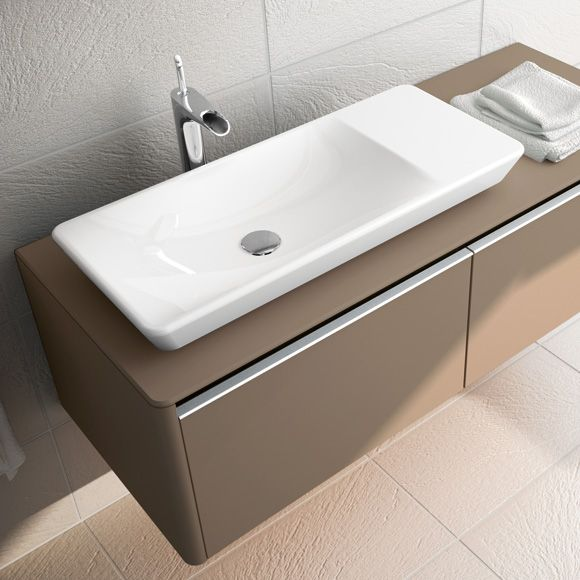 vitra t4 countertop washbasin w 80 d 35 cm basin left without tap hole white with vitraclean. Black Bedroom Furniture Sets. Home Design Ideas
