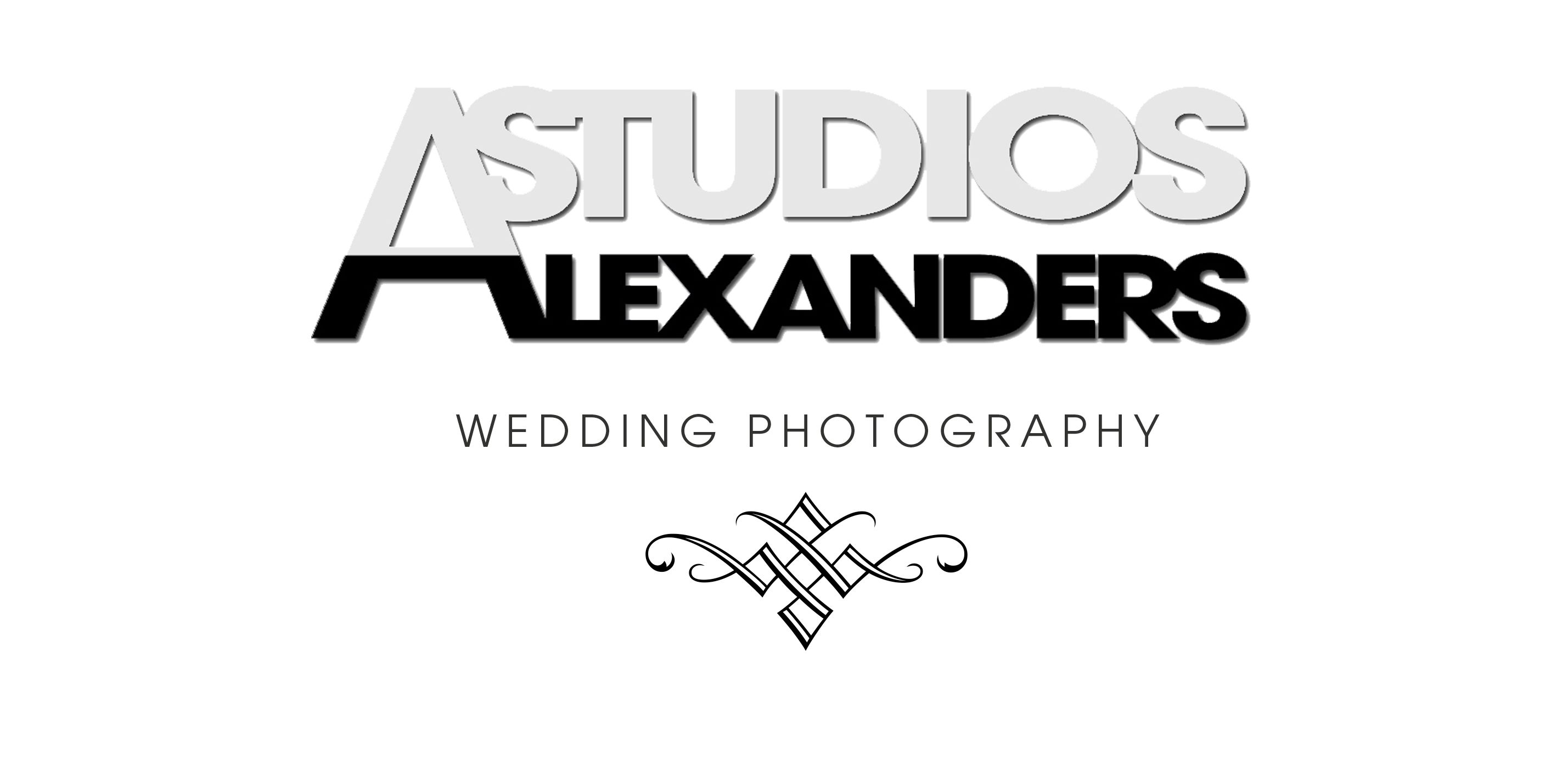 Alexanders Studios New Logo design - White