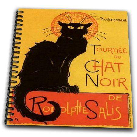 3dRose db_46907_1 Le Chat Noir-Advertising, Art Nouveau, Black Cat, Cat, Cats, Chat Noir, Le Chat Drawing Book, 8 by 8-Inch 3dRose http://www.amazon.com/dp/B00B9QU65S/ref=cm_sw_r_pi_dp_Ak1jvb0R65NVC