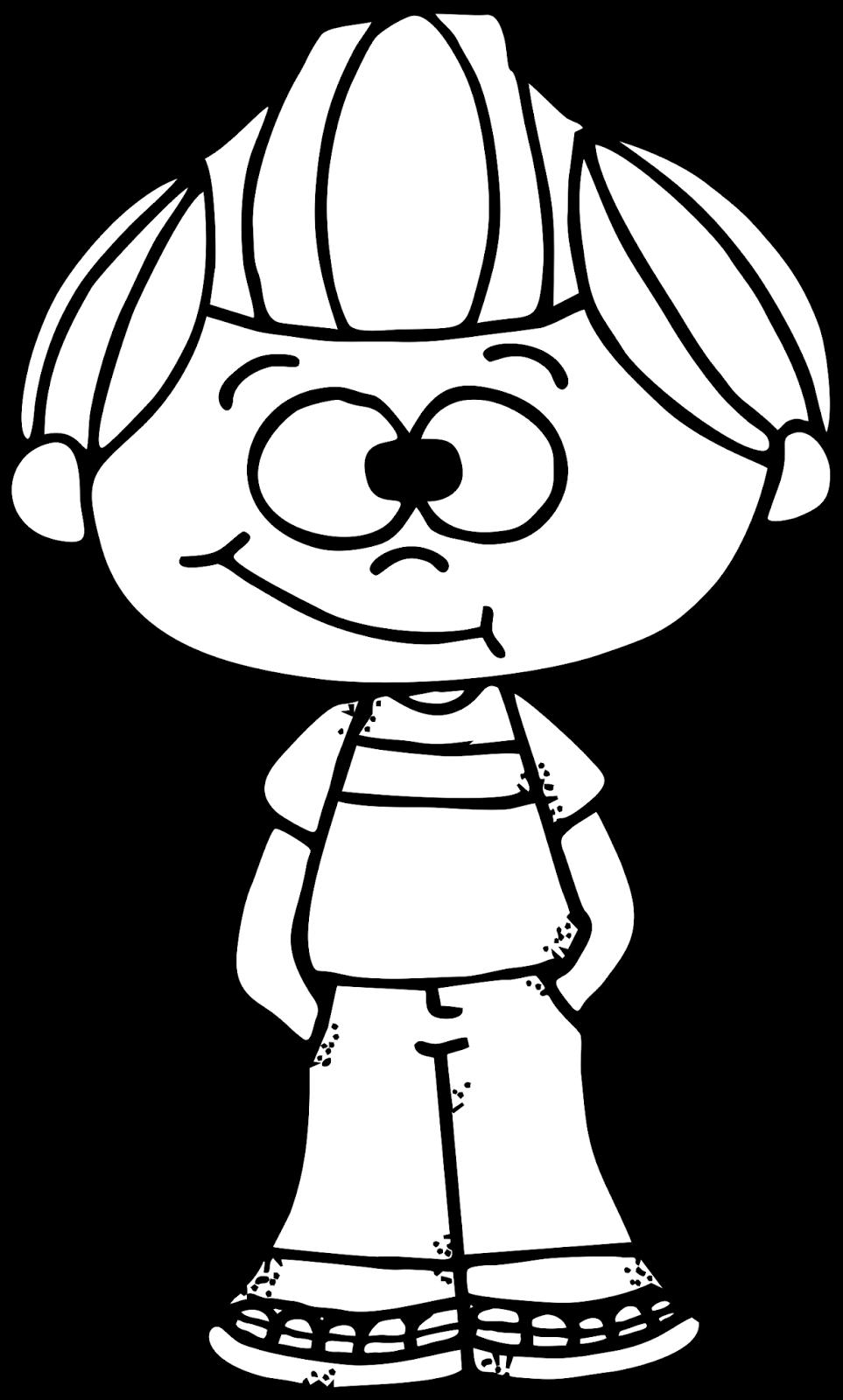 Worksheetjunkie Cute Boy Clipart Freebie Clip Art Freebies Coloring Pages Clip Art