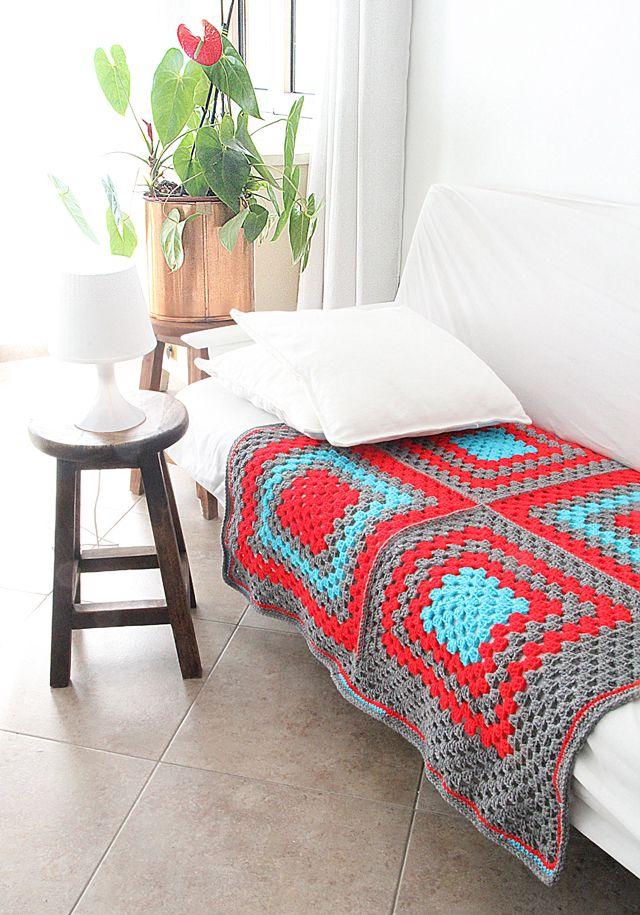 Crocheted Giant Granny Square Baby Blanket Pattern Crochet