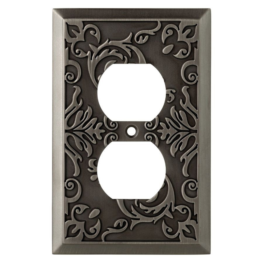 Allen And Roth Wall Plates Stunning Allen  Roth Fairhope 1Gang Antique Pewter Single Duplex Wall Plate Design Decoration