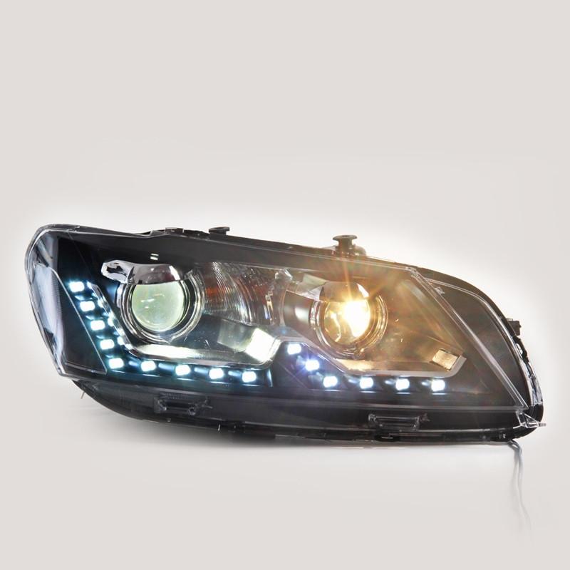 490.00$  Watch now - http://alimw6.worldwells.pw/go.php?t=32773996230 - Newest Type Car Accessories for Volkswagen Passat Head Lamp Headlight Modify Custom 2011-2015