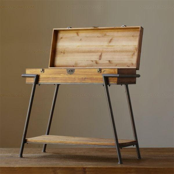 LOFT American Country Furniture Japanese MUJI MUJI Industrial Wood Side  Table Drawer Cabinet Shoe Rack Storage