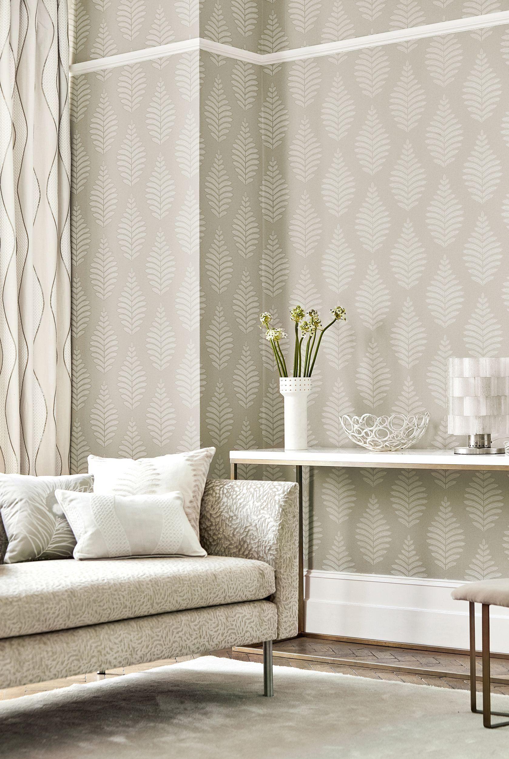 Contemporary Living Room Wallpaper Love A Natural Look Indoor