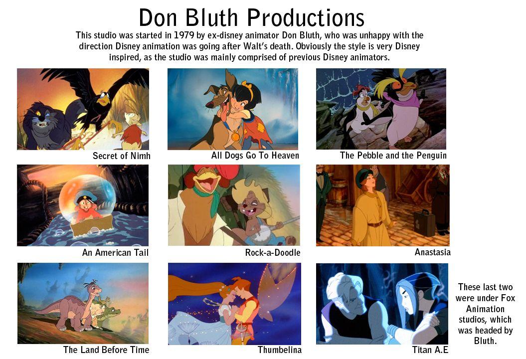 don bluth | Don Bluth Films | Cartoon movies, Disney ...