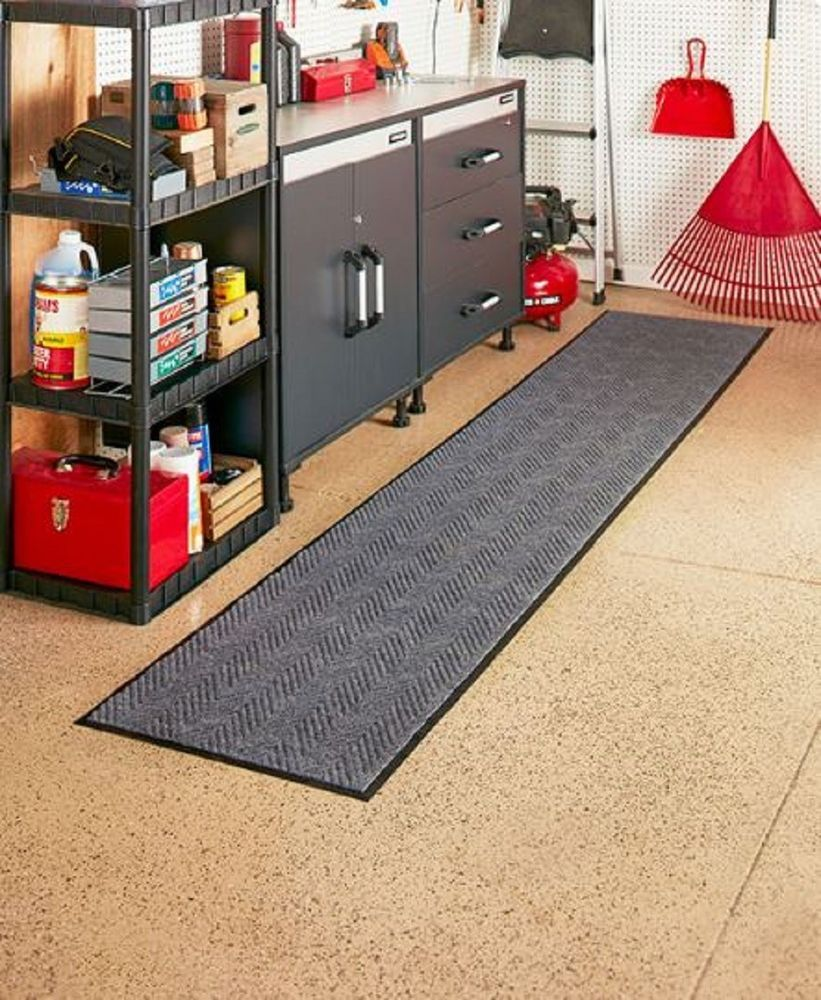 Utility Rug Extra Long Runner Indoor Outdoor Garage Work Hall Laundry Home Unbranded