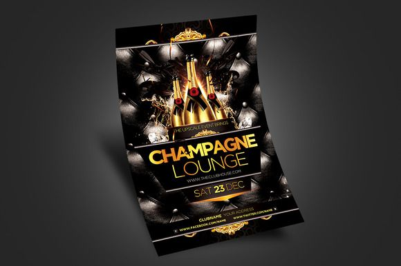 Champagne Lounge Party Flyer By Satgur Design Studio On