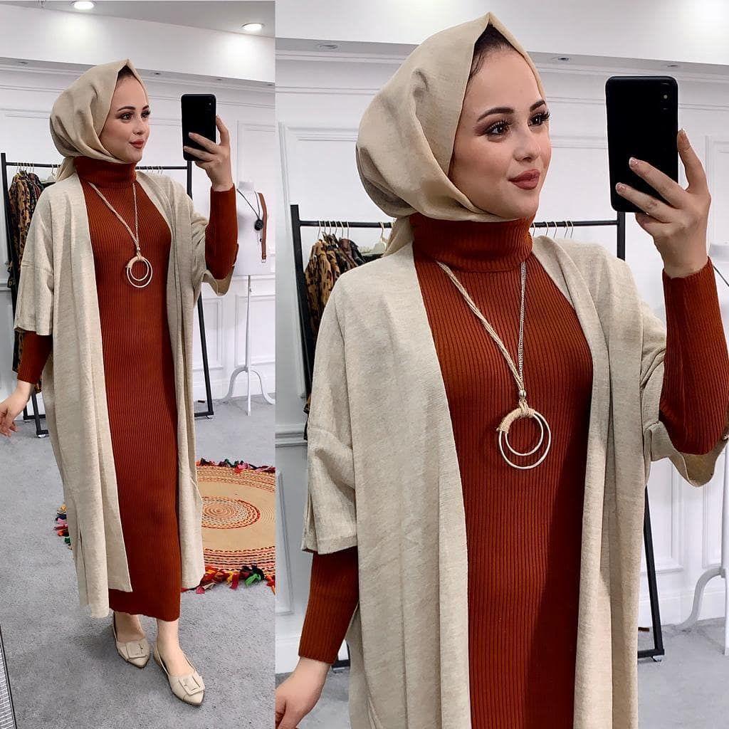 Buyuk Indirim Triko Elbise Kod 9821 Triko Kalem Elbise Bogazlidir Standart Fashion Hijab Fashion Sweater Dress