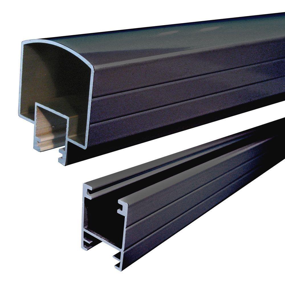 Best Peak Aluminum Railing 4 Ft Black Aluminum Hand And Base 400 x 300