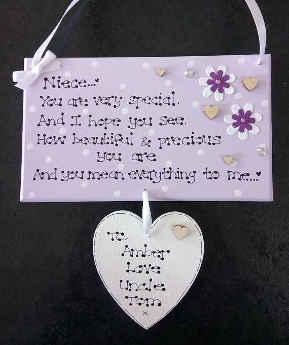 Personalised Special Niece God Daughter Mean Everything to Me Love Gift Plaque