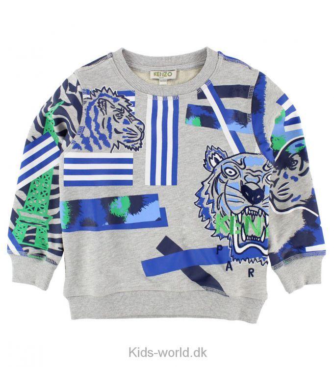 a47c97c8 Kenzo Sweatshirt - Gråmeleret m. Blå/Tigre   Evan ønsker in 2019 ...