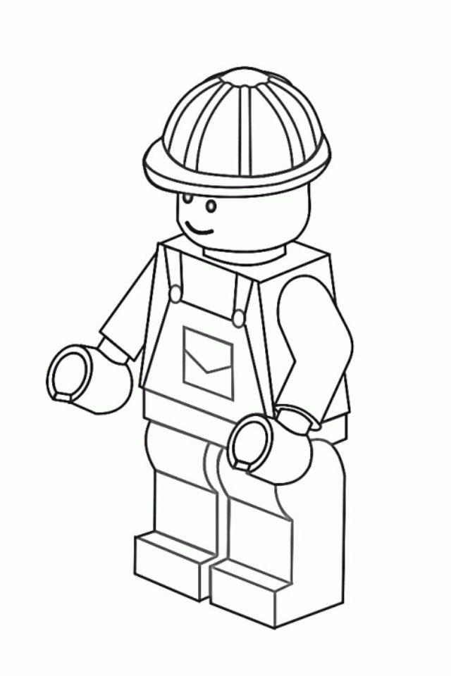 Lego man print (с изображениями)   Раскраски, Лего