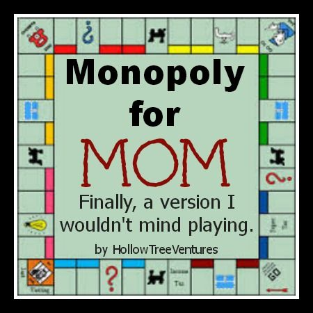 Family Game Night just got tolerable with this Monopoly game made for moms! #humor