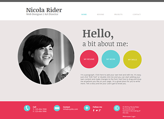 cv ideas - Resume Web Template